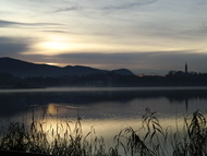 Lake Pusiano at sunrise